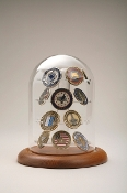 challenge coin holder, challenge coin display frame, challenge coin Dome